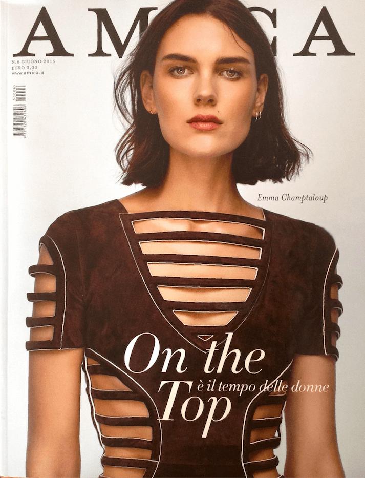 copertina rivista Amica sul frame concept